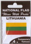 Lithuania Country Flag Tattoos.